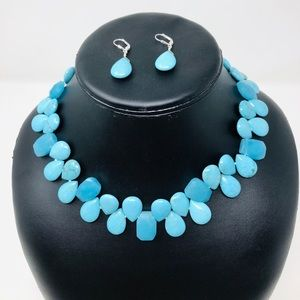 Jewelry - 🆕 sterling, turquoise, chalcedony set, 118.3g